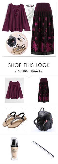 """""""Be in trend... with Rosegal! 27"""" by s-o-polyvore ❤ liked on Polyvore featuring black, Lila, Fahion and rosegal"""