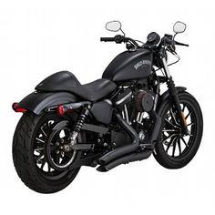 "Black 1/"" Superbar Handlebars tracker scrambler Harley Sportster Triumph"