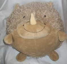 American Mills Stuffed Animal Plush Hedgehog Rhino Brown Big Fat Round Pillow | eBay