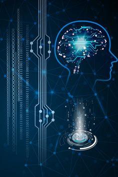 Brain Technology Business Intelligent Be Artificial Intelligence Algorithms, Machine Learning Artificial Intelligence, Technology Posters, Technology Design, Digital Technology, Hacker Wallpaper, Photo Background Images, App Design Inspiration, Technology Background