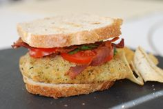 Herbed Cod BLT, linked to lots of seafood recipes!