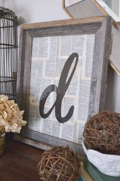 shabby/rustic/barnwood/monogram greatness. old book pages, a great frame, and a little paint make the perfect addition to any space. also a great gift idea!  theteachermama.com