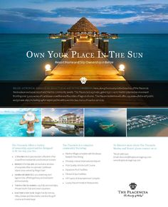 resort brochures examples new 19 best spa templates ads images of resort brochures examples Real Estate Advertising, Real Estate Ads, Advertising Design, Hotel Ads, Brochure Examples, Travel Ads, Travel Brochure, Brochure Inspiration, Design Inspiration