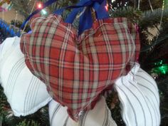 Fabric ornament made out of loved ones shirt by KDaughters on Etsy