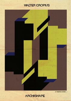 """Image 9 of 25 from gallery of ARCHISHAPE: """"Architecture Shapes in Minimalist Clothing"""". Photograph by Federico Babina Walter Gropius, Bauhaus Architecture, Classical Architecture, Landscape Architecture, Bauhaus Design, Sketch Inspiration, Design Inspiration, Minimalist Poster, Minimalist Style"""