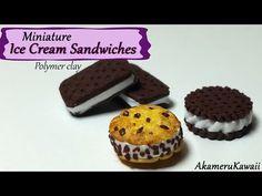 Miniature Ice Cream Sandwiches - Polymer Clay Tutorial - YouTube