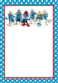 Spice up your party invitation with Smurf Invitations 7th Birthday Cakes, Baby 1st Birthday, 2nd Birthday Parties, Free Printable Invitations Templates, Custom Invitations, Birthday Invitations, Writing Paper, Stationery, Creations
