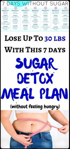 Weight Loss Remedies Lose Weight Up To 30 lbs With This Sugar Detox Menu Plan Quick Weight Loss Tips, Weight Loss Help, Losing Weight Tips, Diet Plans To Lose Weight, Weight Loss Plans, How To Lose Weight Fast, Detox Diets For Weight Loss, Reduce Weight, Exercises To Lose Weight