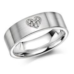 7mm glatt ring, . 935 sølv