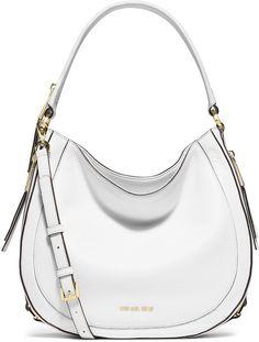c8a15c1ca5d7 MICHAEL Michael Kors Julia Medium Leather Convertible Shoulder Bag, Optic  White Neiman Marcus Purses,