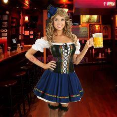 Adult German Costume Corset Oktoberfest Maid Outfit
