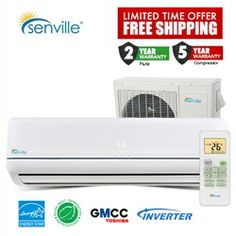 Senville Aura 12000btu Mini Split Ductless Mini Split Heat Pump Ductless Air Conditioner