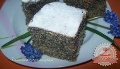 Mákos kevert sütemény Hungarian Cake, Hungarian Recipes, Tasty, Treats, Cookies, Healthy, Poppy, Drink, Food