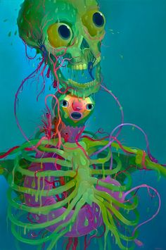 a slimy skeleton artist tumblr - 574×864