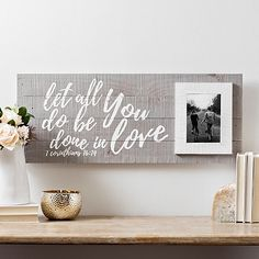 Show off what's most important with our Be Done in Love Wood Plank Picture Frame. The sentimental look will be a perfect gift for the newlyweds in your life. Reclaimed Wood Benches, Rustic Wood Floors, Natural Wood Furniture, Wood Furniture Living Room, Vinyl Plank Flooring, Wood Planks, Cherry Wood Stain, Wood Interior Walls, White Wood Table