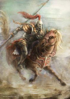 Knight On Horse Painting - Knight On Horse Knight Picture Fantasy Illustration Akdgnd Art Oil Painting Art Print On Canvas Knight Riding A White A Knight In Shining Armor Pai. Knight On Horse, Knight Art, Medieval Art, Medieval Fantasy, Medieval Tattoo, Digital Art Fantasy, Fantasy Art, Imperial Knight, Pop Art Wallpaper