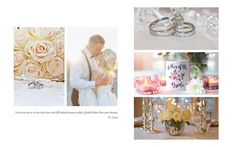 Wedding photo album inspiration spread