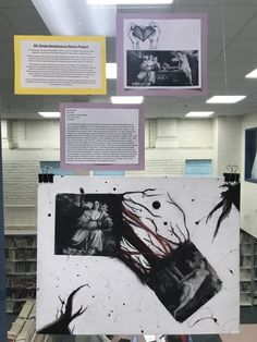 """8th Grade, OMS Student, Remixed Titian's """"Sacred and Profane Love"""" in a different art style, which was surrealism"""