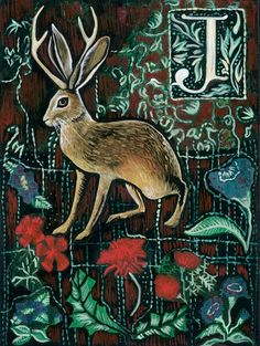 j is for jackalope!!! this is so cute.