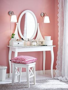 US Furniture and Home Furnishings in 2019 Ikea dressing table, Home, Room decor Completing Bedroom Sets with Vanity Table IKEA Trend Home. My New Room, My Room, Bedroom Storage, Bedroom Decor, Bedroom Sets, Bedroom Furniture, Bedrooms, Ikea Dressing Table, Small White Dressing Table