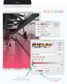 How to add Ombre Effects to images in Photo Shop