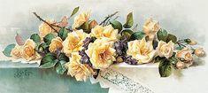 Cluster of Beauties by Paul de Longpre (Vintage Art Print)
