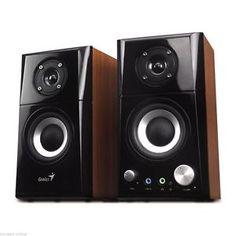 2-WEGE-AKTIV-LAUTSPRECHER-SYSTEM-DESIGN-BOX-BOXEN-HOLZ-TV-PC-HEIMKINO-AKTIVE-NEU