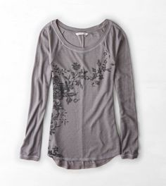 AEO Floral Graphic Thermal... I wear of grey A LOT (when I'm not wearing black)!