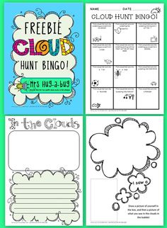 *** FREEBIE! *** Need a relaxing, engaging outdoor activity for a large group of children? Then this activity is for you! Children use their imaginations to observe shapes and pictures in the clouds, then choose from a selection of writing sheets to record their cloud watching fun...