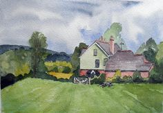 Original Watercolour Painting Farmhouse and by JulianLovegroveArt, £50.00