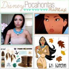 Disney Pocahontas Makeup ♥, created by the-polyvore-tipgirls on Polyvore