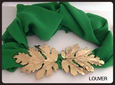 #Louvermarbella#cinturon#hojas#dorado