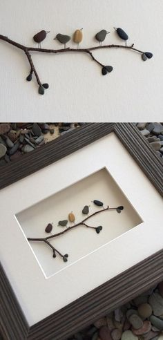Pebble Art by Sharon Nowlan : Creating Powerful Imagery Through Pebbles. HUmm thinking of using my sea glass instead of pebbles. Would be beautiful. Stone Crafts, Rock Crafts, Diy And Crafts, Arts And Crafts, Crafts To Make And Sell, Sell Diy, Art Crafts, Decor Crafts, Crafts For Kids
