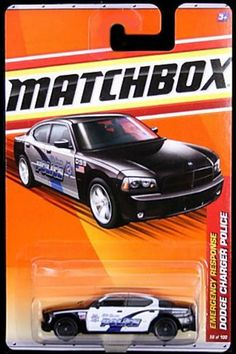 2011 Matchbox Dodge Charger Police Black/White #58 of 100 by Mattel. $10.99. Emergency Response Series, #10 of 13. 1:64. Matchbox Dodge Charger Police car.