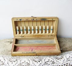 Vintage wooden abacus in boxSchool toyVintage by ANTIQUEcountry, $18.00 - a favorite of mabelretro.com