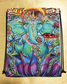 Ganesha Elephant Draw String Shoulder Bag