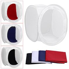Neewer� 48x48 inch/120x120 cm Photo Studio Shooting Tent Light Cube Diffusion Soft Box Kit with 4 Colors Backdrops (Red Dark Blue Black White) for Photography