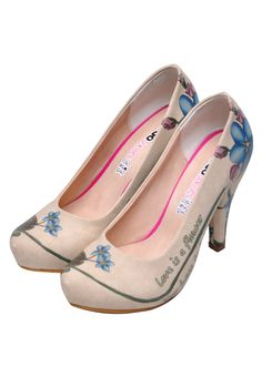 d2be92801e8 Love Is Like A Flower High Heels Cuir Synthétique