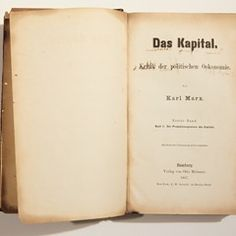 """First edition of """"Das Kapital""""by Karl Marx displayed at Museum of Work in Hamburg"""