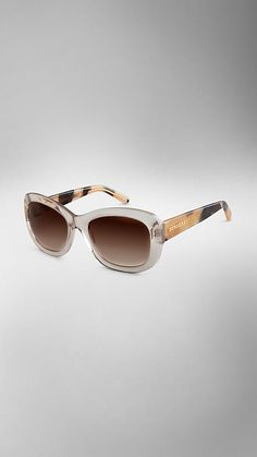 effdc4572214 Plaid shades Trench Collection Round Frame Sunglasses | Burberry Burberry  Sunglasses, Round Frame Sunglasses,