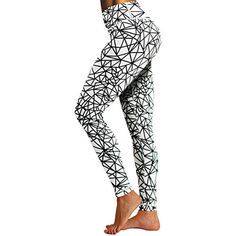 84cf085aa1 BUBBLELIME High Compression Printed Yoga Pants UPF30 Moisture Wicking  Printed Running Pants(Long Pants #Running