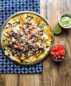 pollo asado street corn nachos
