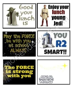 Star Wars Lunchbox Notes   Cool Mom Picks