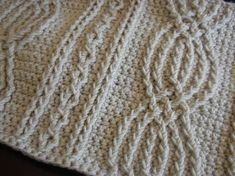 Crochet cables add such great texture to a finished afghan