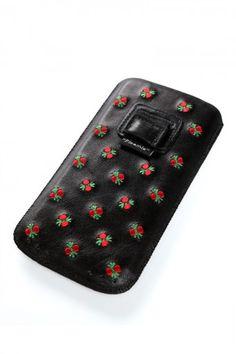 Pleamle iPhone 5 Hülle Leder schwarz
