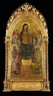 Lippo d'Andrea - Madonna col Bambino in trono - Tempera su tavola - College Museum of Art, Middlebury
