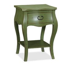 Daniella Bedside Table #potterybarn: Small enough dimensions for  a bedside table. Different colors.