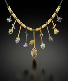 """""""As an artist, my canvas starts with sheets of silver and gold."""" See the amazing jewelry portfolio of artist Q Evon on www.ArtsyShark.com"""