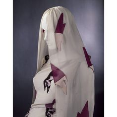 The Tears Dress; The Circus Collection | Schiaparelli, Elsa | V+A Search the Collections | Date: February 1938; Artist/Maker: Schiaparelli, Elsa, born 1890 - died 1973 (designer) Dali, born 1904 - died 1989 (textile, designer); Materials and Techniques: Viscose-rayon and silk blend fabric printed with trompe l'oeil print