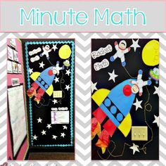 rocket bulletin board ideas | Rocket Math Bulletin Board from Victoria from Teach with a Smile